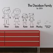 Personalised Stick Family ~ Wall sticker / decals
